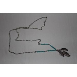 Подвеска на шею с натуральным камнем - бирюза