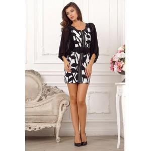 Нарядное черно-белое платье арт 1L317A.