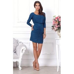 Элегантное коктейльное платье, средней длины арт 1L4136A.