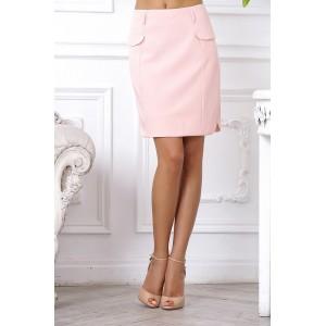 Красивая юбка нежного розового цвета арт 28025.