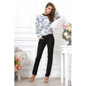 Черные брюки из плотного стрейча арт 3253009.