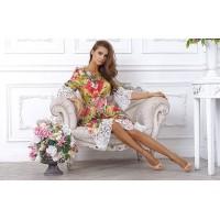 Платье с роскошной отделкой из кружева, приталенное, длиной до колена арт 4TB6473.