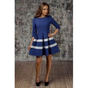 Синие платье с полоской арт 5109.