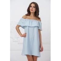 Изумительное летнее платье нежно-голубого цвета арт. 21099