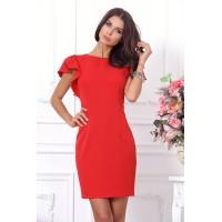 Красное коктейльное платье арт 27266.