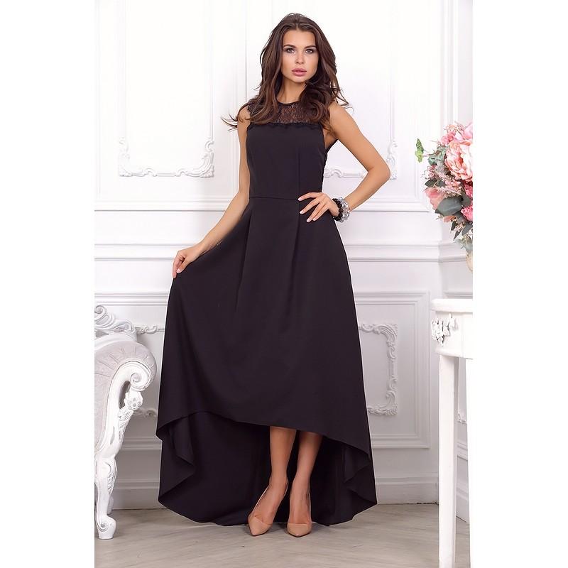 Роскошное дизайнерское платье, оформленное изысканным кружевом арт 27551.
