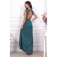Роскошное дизайнерское платье, оформленное изысканным кружевом арт 27552.