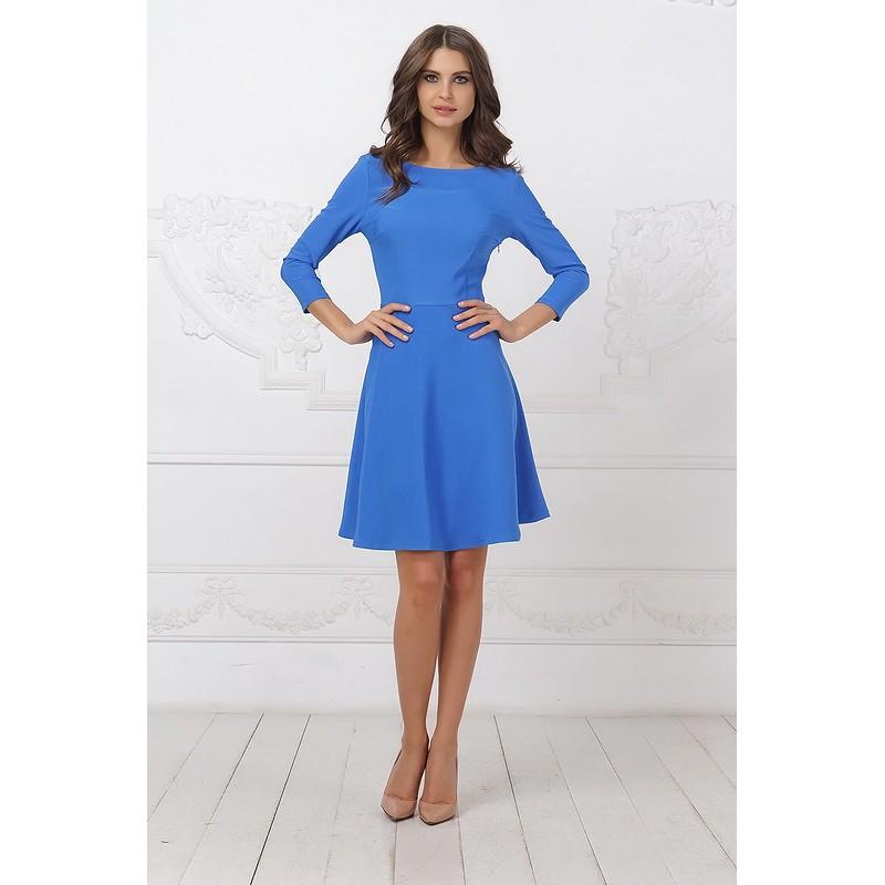 Женственное платье нежно голубого цвета арт 27669.