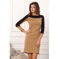 Приталенное женское платье, длиной выше колена арт 27903.