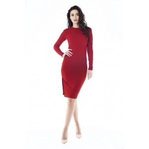 Платье миди KIM красное арт 1924713.