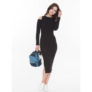 Платье миди Touch черное арт 1925901.