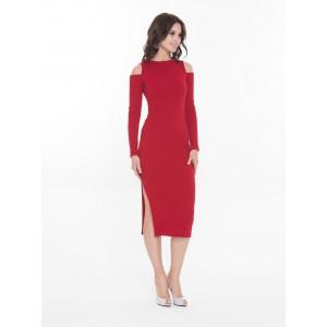 Платье миди Touch красное арт 1925913.